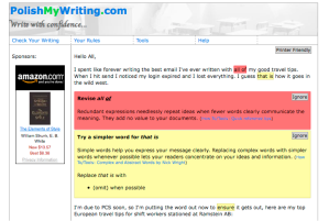 PolishMyWriting.com Screenshot